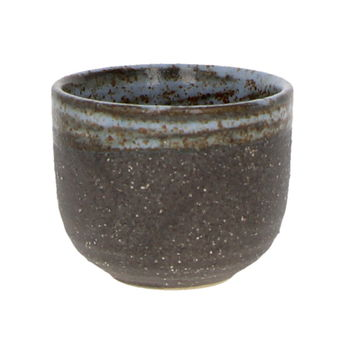 "Sake cup"" light grey and brown "" 5cm x 4cm"