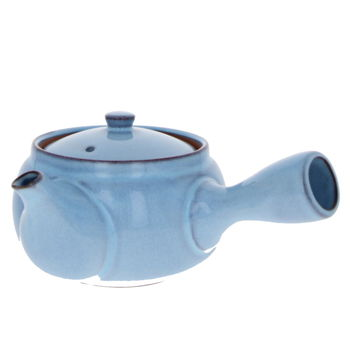 """Blue japanese teapot with filter """"ume flower """" 450ml"""