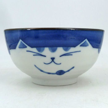 Bowl blue cat
