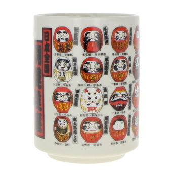 Japanese mug with lucky-charm Daruma