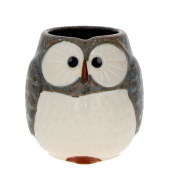 """Owl"" Japanese teacup - Blue"