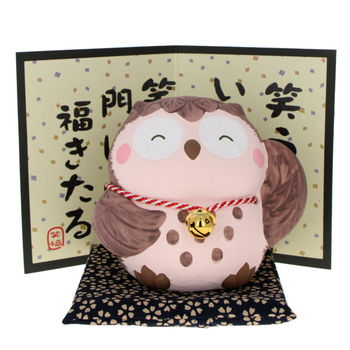 Lucky charm owl with a little bell 9cm