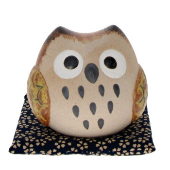 """Lucky charm owl """"round"""" with a money box 8cm"""