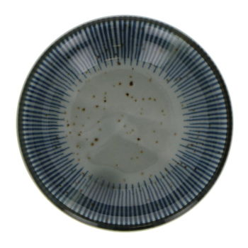 Small round soy saucer cup - Blue stripes