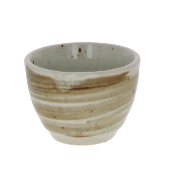 Sake cup with spiral