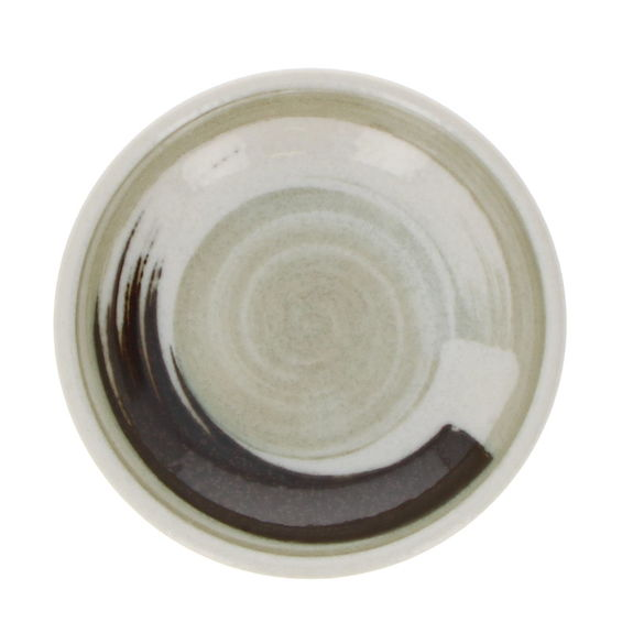 """Small round saucer cup """"a brush stroke"""""""