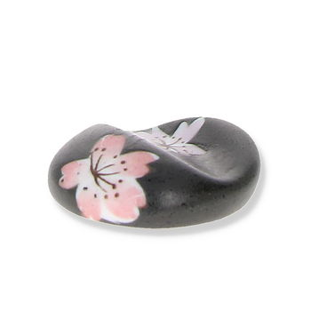 """Sakura"" round chopsticks rest - Black"