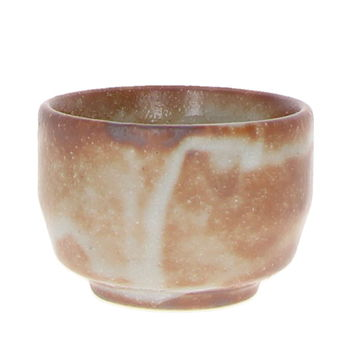 Handcrafted sake cup - Grey brown 5.6cm x 4cm