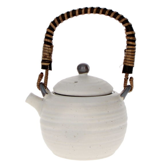 """Japanese white teapot with filter  """"Powdering"""" 280ml"""