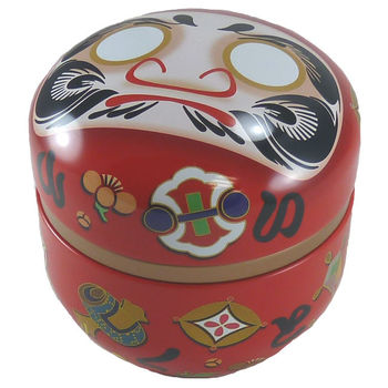 Daruma red tea box