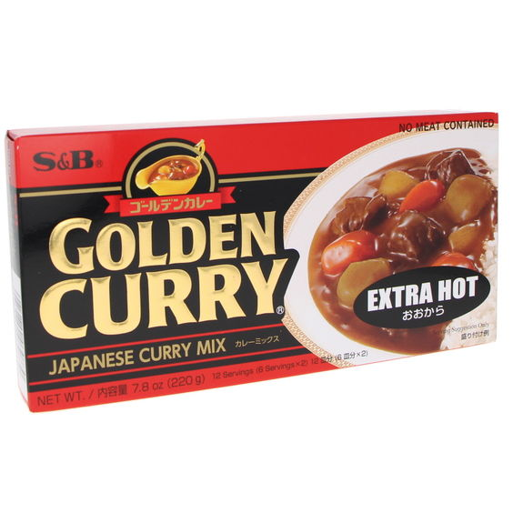 Golden curry sauce Extra Hot 240g - 12 servings