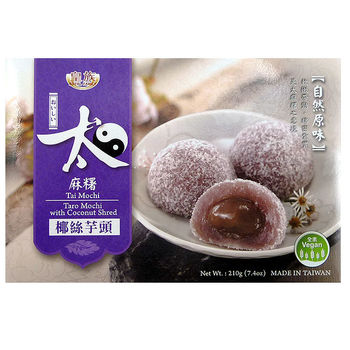 Taro & coconut shred mochi 210g - 6 servings
