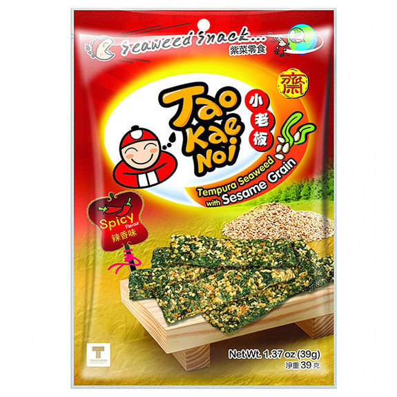 Spicy tempura seaweed snack with sesame 39g