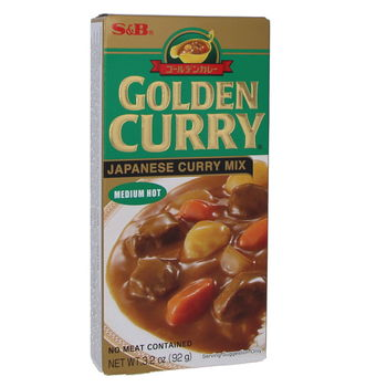 Curry japonais Golden Curry moyen 92g (5 portions)