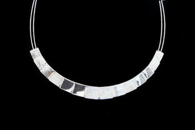 Collier IKITA arc argent cables