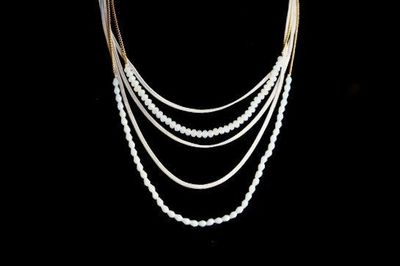 Collier IKITA cascade chaines perles