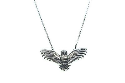 Collier IKITA hibou anthracite