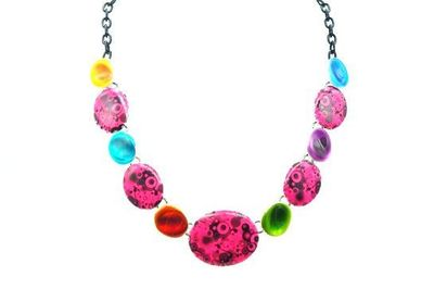 Collier IKITA ellipses multcolores