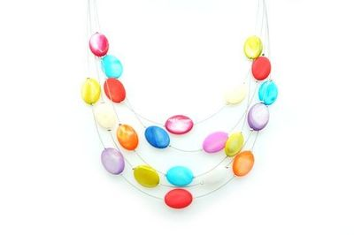 Collier IKITA perles multicolores