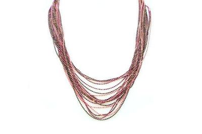 Collier IKITA multiples rangs rose