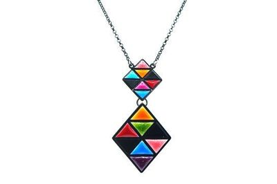 Collier IKITA 2 losanges mosaiques