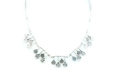 Collier IKITA petits plateaux argent chaine