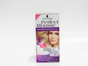 2283 schwarzkopf coloration perfect mousse permanente blond platine 910 - Coloration Blond Perle