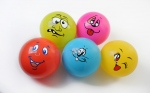 Lot de 5 ballons smiley's