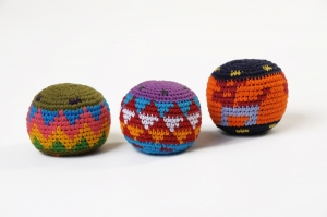 Balle rasta multicolore - lot de 3