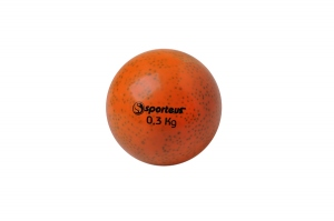Balle lestée lisse orange 0,3 kg