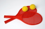 Set initiation tennis (L 41 cm) 2 raquettes + 2 balles