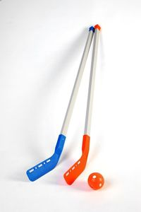 Set initiation hockey 98 cm x 6 - 3 balles / 3 palets