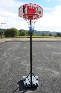 Panier de basket-ball lestable mobile