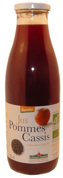 JUS POMMES CASSIS