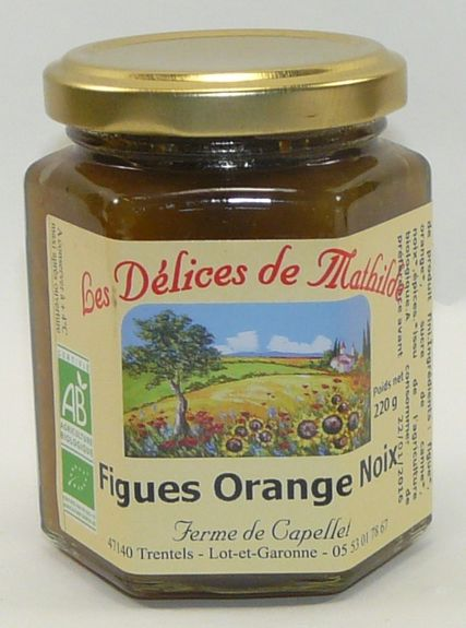 CONFIRETTE FIGUES ORANGE ET NOIX