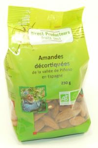 AMANDES DECORTIQUEES 250 GR