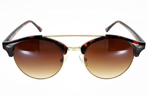 Lunettes de Soleil AD SOL 18083, Style Clubround, Ecaille/or