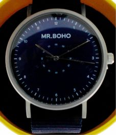 Montre Mr BOHO Casual metallic Blue, 40 mm,