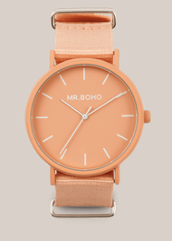 Montre Mr BOHO GOMATO de couleur PEACH 34C PP, Diamtètre 40 mm