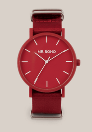 Montre Mr BOHO GOMATO de couleur  Rouge Cherry 27 GG, Diamtètre 40 mm