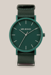 Montre Mr BOHO GOMATO de couleur Verte 25 VV , Diamtètre 40 mm