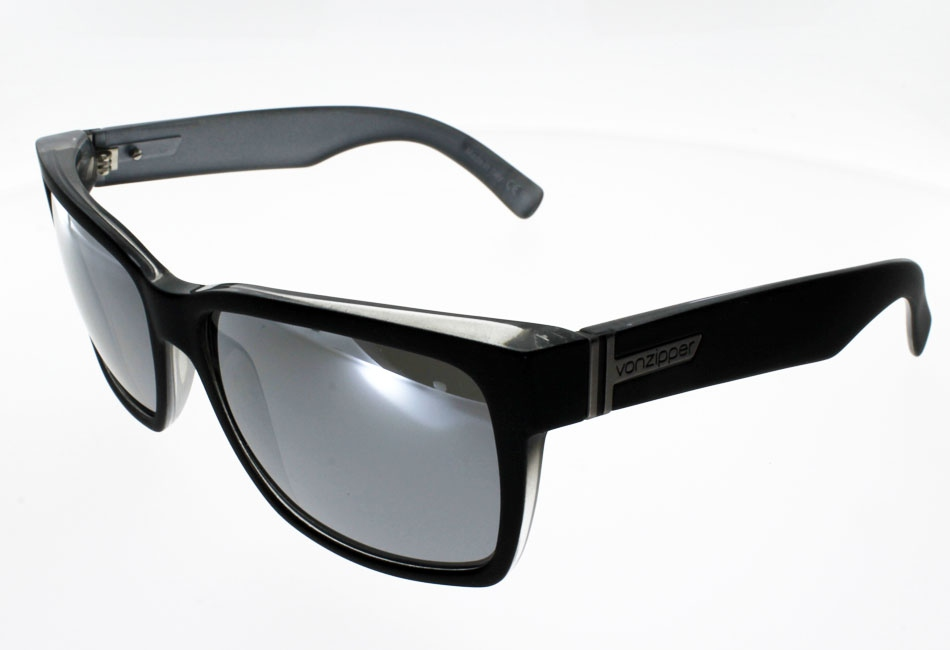 VON ZIPPER ELMORE   BLACK SATIN/GREY CHROME
