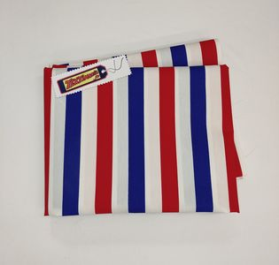 Coupon toile rayure tricolore