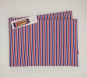Coupon toile rayure tricolore fines
