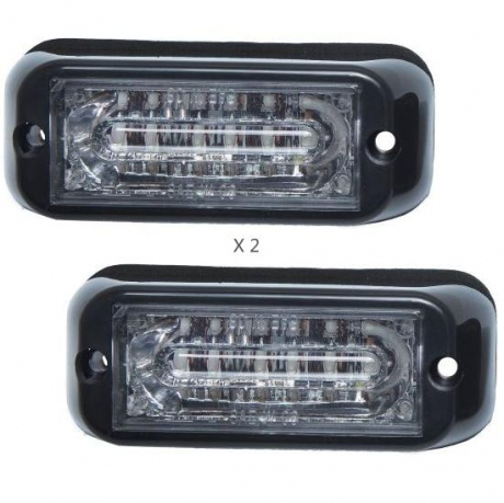 STROB LED REFLECT 2 X 6