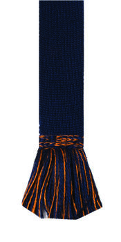 Chaussettes CHEQUERS burnt orange + garters