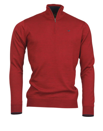 Pull NORFOLK 1/4 ZIP CHILI