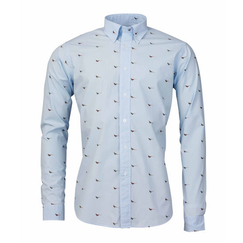 Faisant light blue shirt