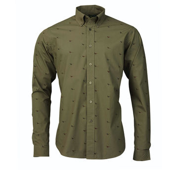 Faisant dust green shirt