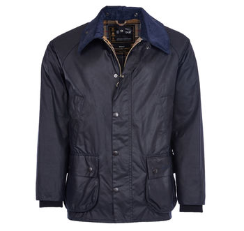 Bedale navy wax jacket